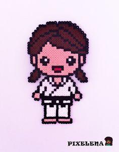 Martial arts girl hamabeads
