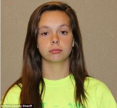 Child killer: Cassidy Goodson, 14, is facing charges of first degree murder after she secretly gave birth to a baby boy, strangled him to death and then hid his body in a pile of wet laundry