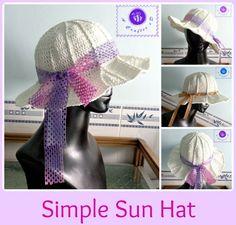 crochet sun hat free pattern Chapéu De Crochê daabf1b8755