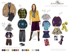Did I mention I LOVE layers? The Mom's look is a little 'off' to me, but love the kids/husbands outfits!
