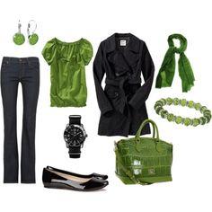 That bag. Those flats. Loving the green!