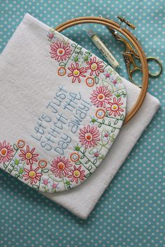 embroidery, Stitch the Day Away, craft clutch