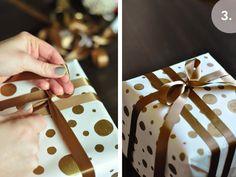 Gold Polka Dot Wrapping.