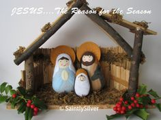 QUICK SHIP...Small Nativity Felt Saint Softie Set