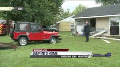 Hampton, Va. - A Jeep has crashed into a home in the 1800 block of Andrews Blvd. in Hampton. Three adults and three children were inside of the home at the time of the crash. The jeep crashed throu...
