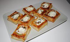 Volovanes con champiñones y queso de cabra!