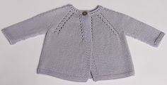Ravelry: Cardigan for baby English PDF pattern by Florence Merlin