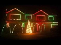 ▶ O'Connor Halloween Light Display - 2013 --- Boom Boom Pow - YouTube