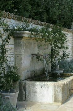 I wouldnt want a fountain with this high of a back but I love the style and feel of the bottom portion