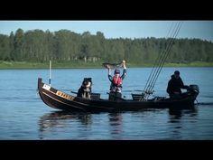 Salmon fishing in Pello in Tornio River in Lapland Finland