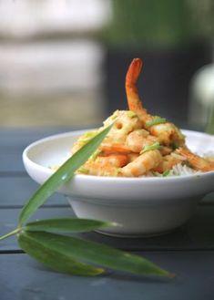 Crevettes au curry express