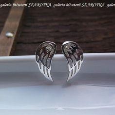 Uskrzydlone kolczyki ze srebra - Kolczyki - Biżuteria srebrna