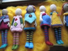 Selection of Incomplete Felted Dolls by Lorena Cassady