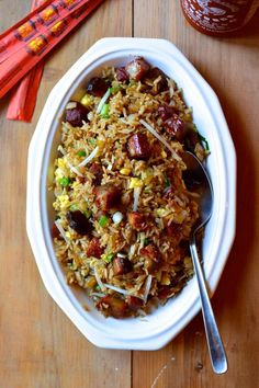 Classic #Chinese Pork Fried #Rice, by thewoksoflife.com