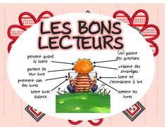 """Affichage """"les bons lecteurs"""" et """"les droits du lecteur"""" French Teaching Resources, Teaching French, Teaching Tools, Teaching Ideas, French Classroom, Primary Classroom, Classroom Ideas, Grade 1 Reading, Read To Self"""