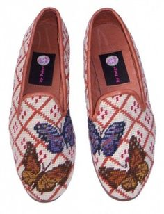 The Best Men's Shoes And Footwear :   Butterfly Needlepoint loafers    - #Men'sshoes