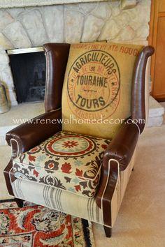 Costumbre de la orden Vintage tapizado ala por ReNewalHomeDecor