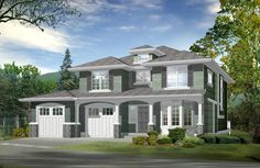 Compact House Plan with Finished Basement - 23245JD | Craftsman, Northwest, Narrow Lot, 2nd Floor Master Suite, CAD Available, Den-Office-Library-Study, Loft, PDF, Sloping Lot | Architectural Designs