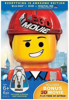 (NEW SEALED) LEGO MOVIE EXCLUSIVE BLU RAY DVD VITRUVIUS FIGURE TOY SET