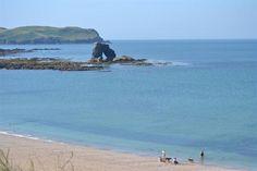 Thurlestone Sands and coastline in South Devon