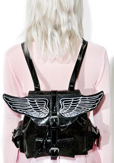 Sugar Thrillz Lil Angel Mini Backpack is flyin  high. This adorbz mini  backpack features 91977ad55953e