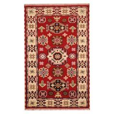 Shop for Herat Oriental Indo Hand-knotted Tribal Kazak Wool Rug (3' x 5'). Ships To Canada at Overstock.ca - Your Online Area Rugs Outlet Store!