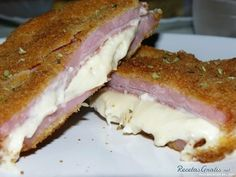 Milanesa rellena de jamón y queso