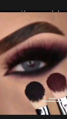Almond Eye Makeup, Soft Eye Makeup, Bridal Eye Makeup, Asian Eye Makeup, Eye Makeup Art, Dark Makeup, Skin Makeup, Wedding Makeup, Red And Black Eye Makeup