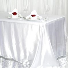 """1 pc Wine 90x156/"""" RECTANGLE Satin TABLECLOTH Wedding Party Banquet Linens"""