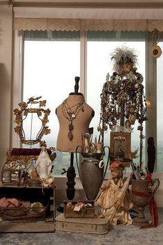 a partial mannequin is a nice necklace display idea