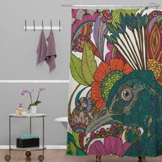 Valentina Ramos Alexis and The Flowers Shower Curtain