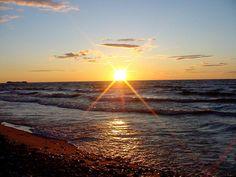 Sunset overlooking Lake Superior, Hiawatha National Forest.
