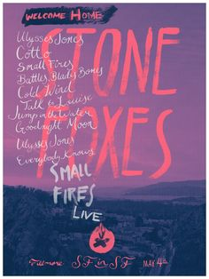 (7) The Stone Foxes - A Homecoming Poster by Nicholas Kasimatis - Skillshare