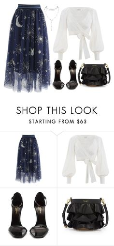"""""""Stars"""" by niaangharad2003 on Polyvore featuring Chicwish, Zimmermann, Yves Saint Laurent and Henri Bendel"""