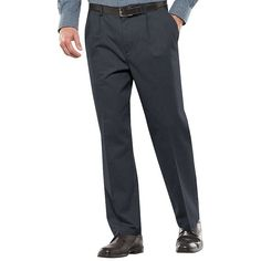 Men's Croft & Barrow® Stretch Easy-Care Classic-Fit Pleated Pants, Size: