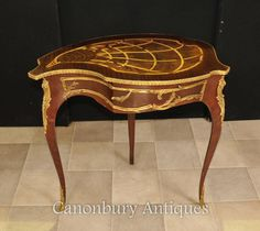French Empire Shaped Side Table Jewellery Case Trinket