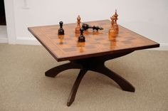 Large scale Marquetry artisan chess game table   From a unique collection of antique and modern game tables at https://www.1stdibs.com/furniture/tables/game-tables/