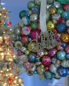 Vintage Ornaments Christmas Wreath | Flickr - Photo Sharing!
