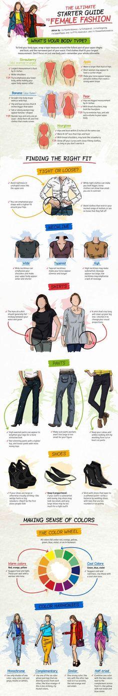 Fashion Tips for Tall Women Infographic #FashionTips, #Women ...
