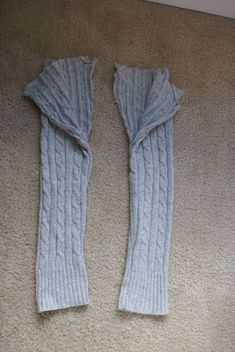 How to make toddler pants from sweater sleeves.