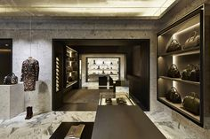GIVENCHY store at Avenue Montaigne, Paris. Givenchy is killing it in luxury retail design.