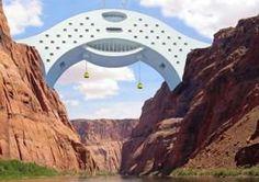 Le #Colorado #River Bridge Hotel, une proposition de #design pour un spécifique #éco-hotel de #luxe qui franchira la #rivère #Colorado sous la forme d'un grand pont. #bridge