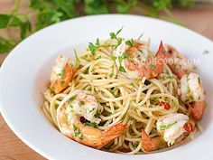 Shrimp Aglio Olio - One of my many all-time-fav dishes!