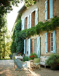Many different kinds of French interior styles, such as French country, rustic French and of course, classic traditional French exteriors, French courtyard.