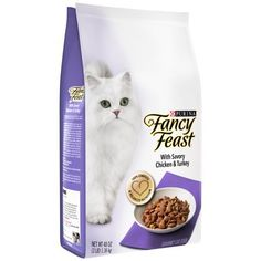 Purina Fancy Feast Gourmet Dry Cat Food With Savory Chicken and Turkey (3 lb. Bag - Pack of 2) ** Read more reviews of the product by visiting the link on the image. (This is an affiliate link) #PetCats