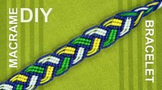 You could do this bracelet in all sorts of fun color combinations, or all in one color and it would be nice either way. These bracelets would make great easy gifts for friends, as well or This would make for a great friendship bracelet. You can use this bracelet from both sides. Fits to men and women. Use Mouline threads. by @Macrame School