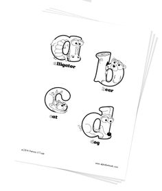 Fun Animal Alphabet Game Personalized Baby Toddler Gifts Free Coloring Book Poster And Flash Cards