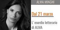 """Caffè Letterari: Alma Minghi presenta il suo primo romanzo """" La cus..."""