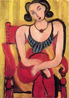 """Woman w Blue Bodice""  Henri Matisse, 1935"