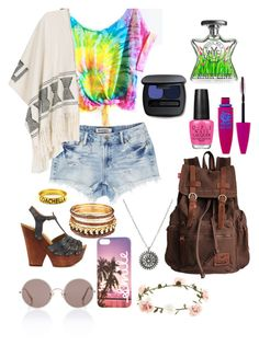 """Coachella outfit #2"" by alexapimkie on Polyvore featuring Mojo Moxy, Sunday Somewhere, Accessorize, OPI, Maybelline, Bare Escentuals and Bond No. 9"